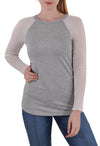 LONG SLEEVE BASEBALL TEE MESH SLEEVES