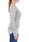 STRIPES LONG SLEEVE CREW  CROCHET BOTTOM