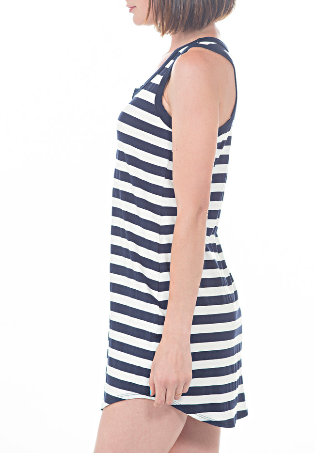 RACERBACK STRIPED DRESS - PTJ TREND: Women's Designer Clothing