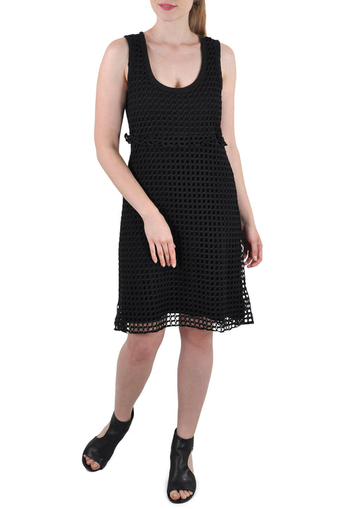 CROCHET RACER BACK SLEEVELESS DRESS