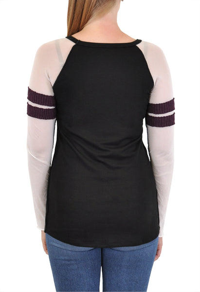 LONG SLEEVE CREW BASEBALL TEE