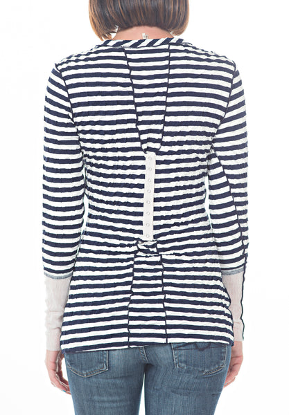 STRIPED WRINKLE TOP - PTJ TREND: Women's Designer Clothing