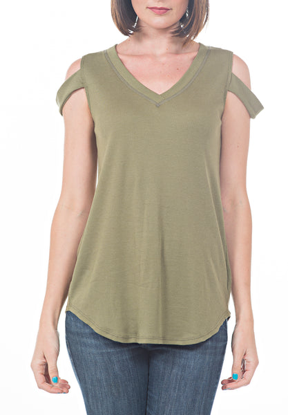 BASIC COLD SHLDR T - PTJ TREND: Women's Designer Clothing