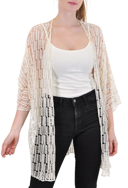 OPEN FRONT CARDIGAN / COVER UP