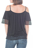 COLD SHOULDER HIPPIE TOP - PTJ TREND: Women's Designer Clothing
