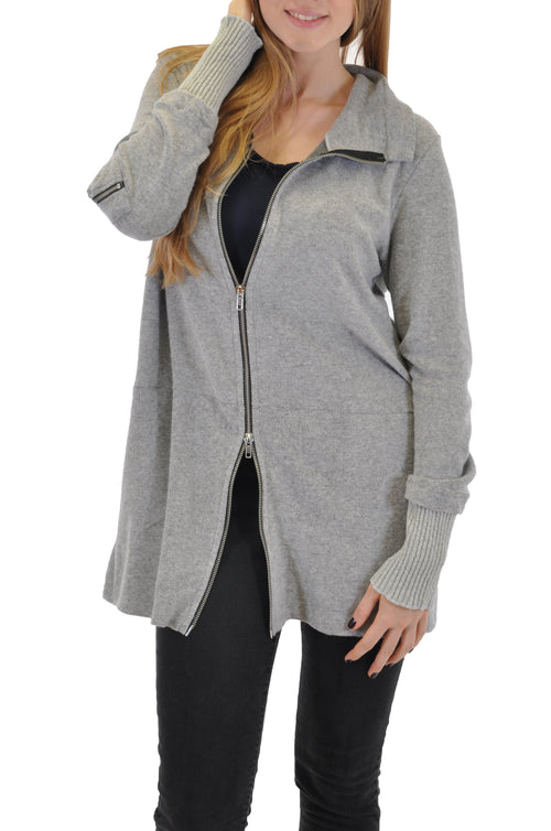 LONG SLEEVE ZIP FRONT JACKET