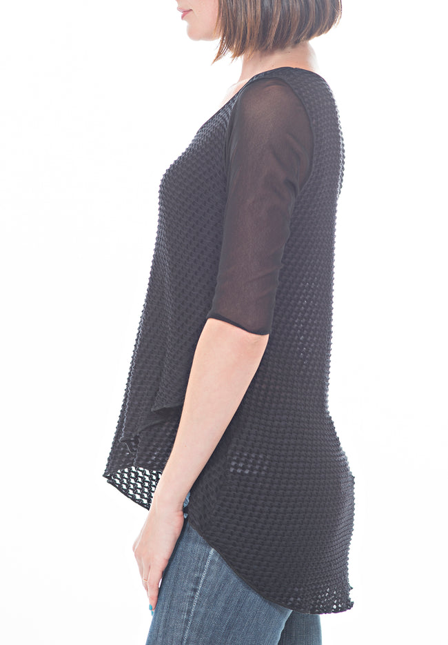ASYMMETRICAL OVERLAY TOP - PTJ TREND: Women's Designer Clothing