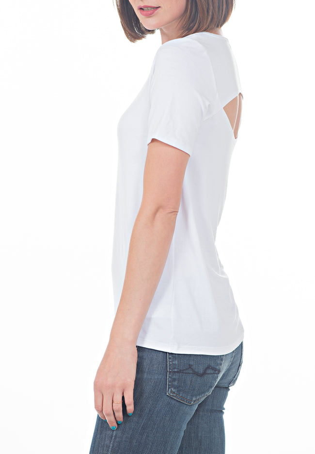 WHITE TEE - PTJ TREND: Women's Designer Clothing