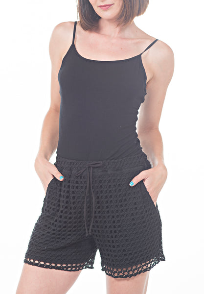 CROCHET SHORTS - PTJ TREND: Women's Designer Clothing