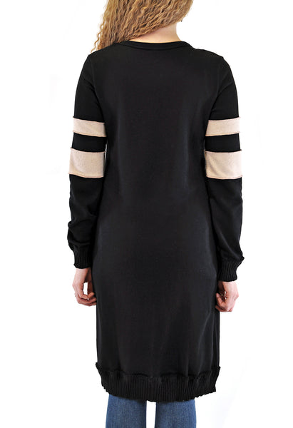 LONG SINGLE BUTTON COAT  WITH SLEEVE DESIGN