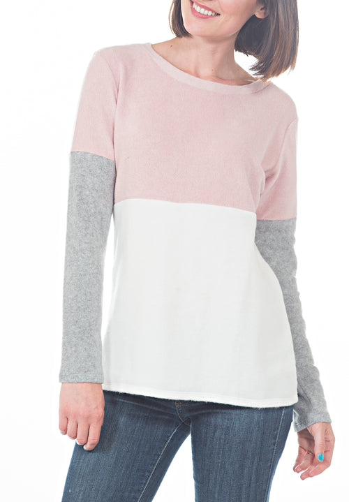 COLOR BLOCK SWEATSHIRT - PTJ TREND: Women's Designer Clothing