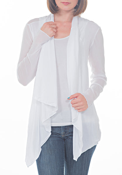 BELTED MESH CARDIGAN - PTJ TREND: Women's Designer Clothing