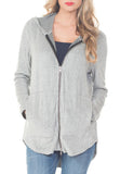 HOODIE SWEATER WITH ZIPPER - PTJ TREND: Women's Designer Clothing