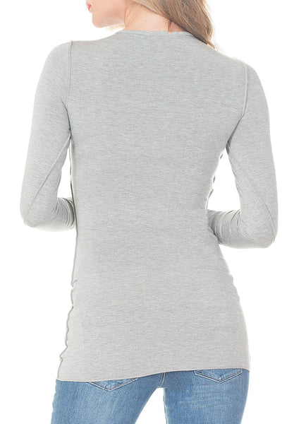 L/S SHIRT WITH EXTRA SHIRRING - PTJ TREND: Women's Designer Clothing