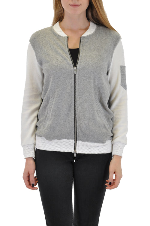 BOMBER JACKET WITH POCKET SLEEVE
