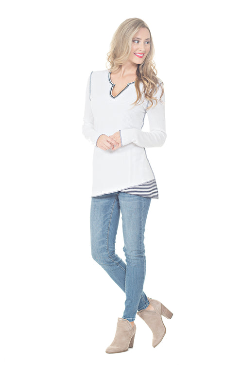 LONG SLEEVE THERMAL TOP - PTJ TREND: Women's Designer Clothing