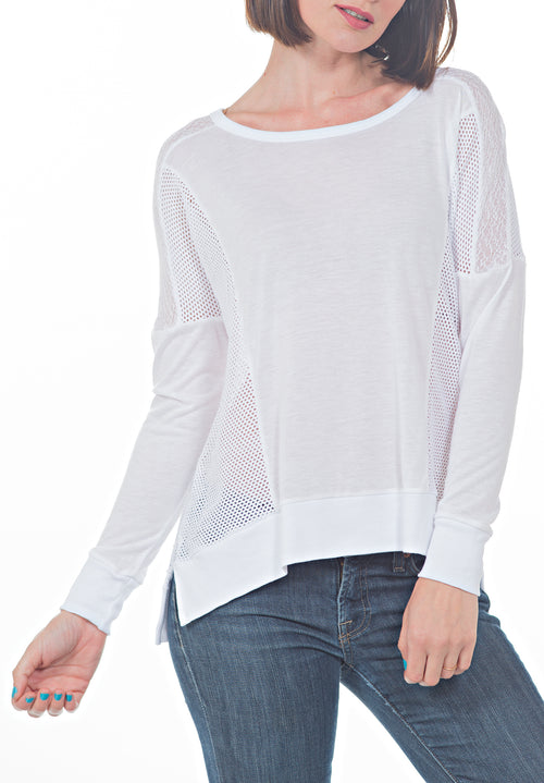OVERSIZED FISHNET TOP - PTJ TREND: Women's Designer Clothing
