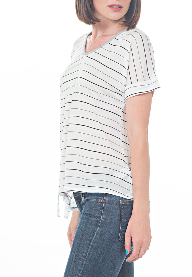 SIDE TIE TOP - PTJ TREND: Women's Designer Clothing