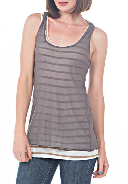 DOUBLE LAYERED TOP - PTJ TREND: Women's Designer Clothing