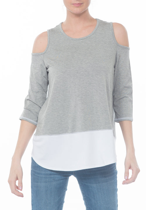 COLD SHOULDER TOP - PTJ TREND: Women's Designer Clothing