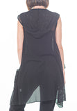 HOODED VEST - PTJ TREND: Women's Designer Clothing