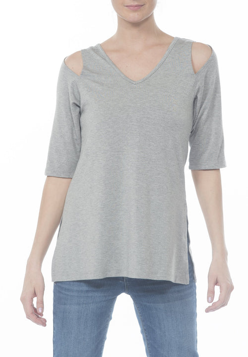 VNECK COLD SHLDR TOP - PTJ TREND: Women's Designer Clothing