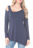 DEEP V NECK OFF THE SHOULDER SHIRT - PTJ TREND: Women's Designer Clothing