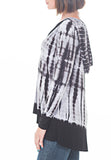 HOODED TIE DYE TOP - PTJ TREND: Women's Designer Clothing