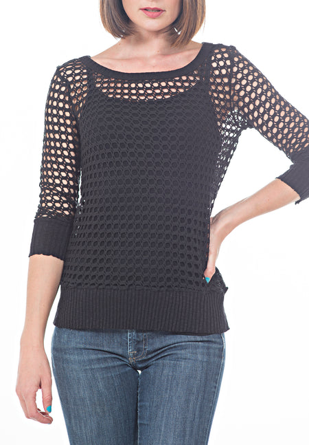LONG SLEEVE LACE UP FRONT WITH CONTRAST CUFF
