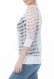 CROCHET SWEATSHIRT - PTJ TREND: Women's Designer Clothing