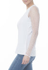 VNECK TOP W CROCHET SLV - PTJ TREND: Women's Designer Clothing