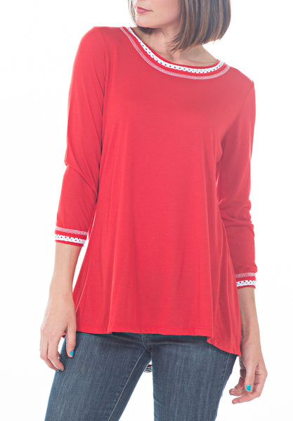 QUARTER SLEEVE TOP