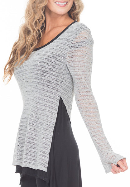 BELL CREW-NECK W/ POINTED BACK - PTJ TREND: Women's Designer Clothing