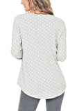 V-NECK POLKA DOT TOP - PTJ TREND: Women's Designer Clothing