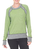 NEON GREEN STRIPE SWEATER - PTJ TREND: Women's Designer Clothing