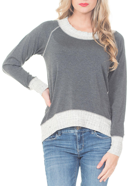 COZY SWEATER WITH BACK ZIPPER - PTJ TREND: Women's Designer Clothing