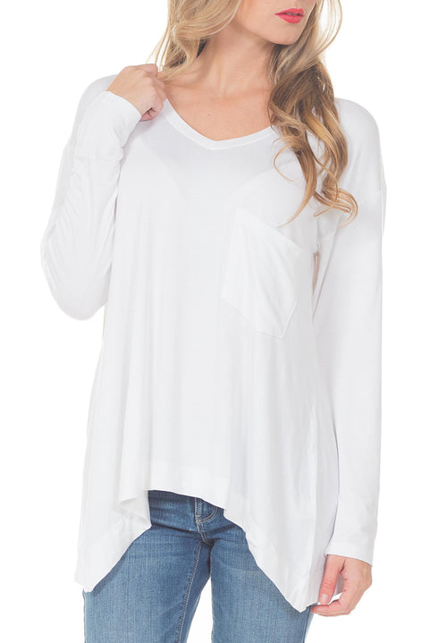 WILT V NECK POCKET SHIRT - PTJ TREND: Women's Designer Clothing