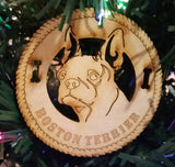 Boston Terrier Dog Breed Ornaments - Set of 4