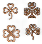 Celtic Shamrock Ornaments