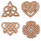 Celtic Knot Heart Ornaments