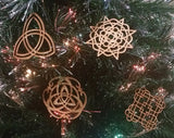 Celtic Ornaments On Christmas Tree
