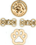 Chow Chow Dog Breed Ornaments - Set of 4