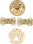 Dalmatian Dog Breed Ornaments - Set of 4