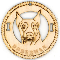 Doberman Pinscher Dog Breed Ornaments - Set of 4