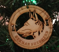 German Shepherd Dog Breed Ornaments - Set of 4