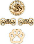 Pekingese Dog Breed Ornaments - Set of 4