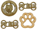 Pitbull Dog Breed Ornaments - Set of 4