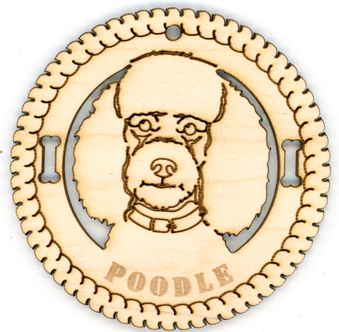 Poodle Dog Breed Ornaments - Set of 4