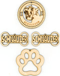 Schnauzer Dog Breed Ornaments - Set of 4
