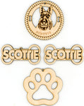 Scottish Terrier (Scottie) Dog Breed Ornaments - Set of 4